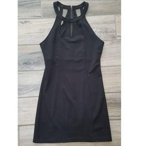 MINKPINK strappy mini little black dress